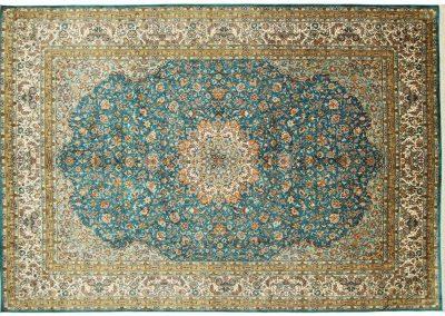 Кашмир — индийский шелковый ковер ручной работы. Состав 100% шелк. Страна Индия. Размер 306 х 198 см