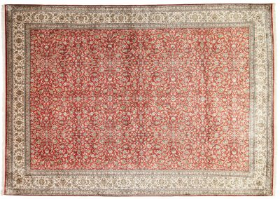 Кашмир — индийский шелковый ковер ручной работы. Состав 100% шелк. Страна Индия. Размер 425 х 302 см