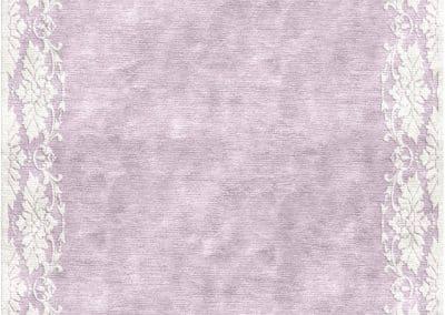 Deco Border Lila – модерен ръчно тъкан килим от коприна 360 х 320 см