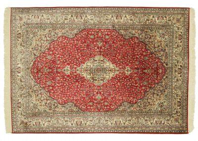 Кашмир – индийски ръчно тъкан килим от коприна 220 х 157 см