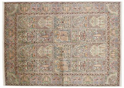 Кашмир – индийски ръчно тъкан килим от коприна 222 х 159 см