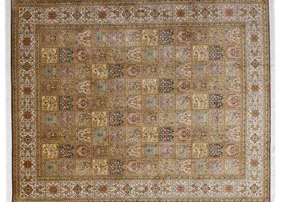 Кашмир – индийски ръчно тъкан килим от коприна 311 х 247 см