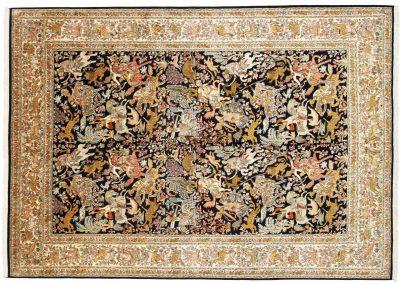 Кашмир – индийски ръчно тъкан килим от коприна 337 х 246 см