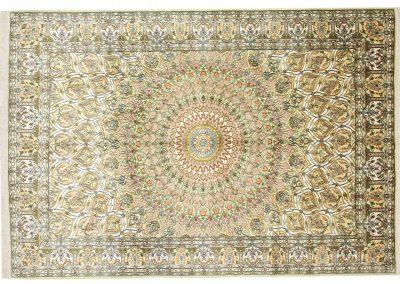 Кашмир – индийски ръчно тъкан килим от коприна 273 х 190 см