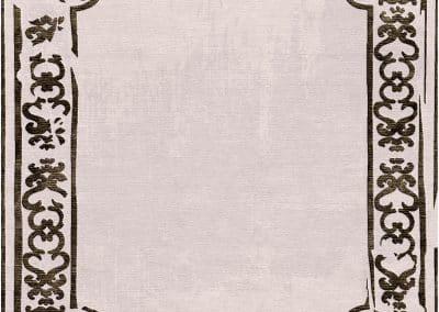 Art Deco Border Sand – луксозен ръчно тъкан килим 380 х 340 см