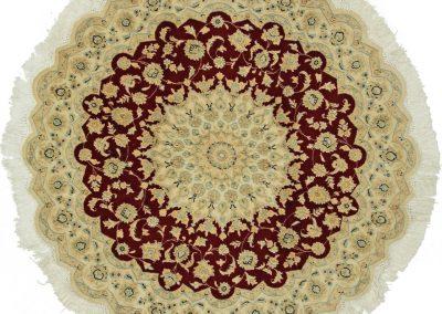 Наин – персийски килим от вълна и коприна \ 150 х 150 см