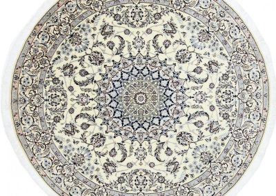 Наин – персийски килим от вълна и коприна \ 199 х 199 см