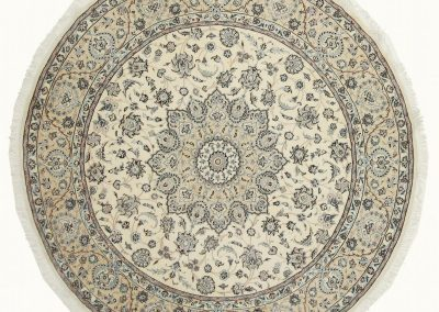 Наин — персидский ковер ручной работы из шерсти с шелком — 250 х 250 см