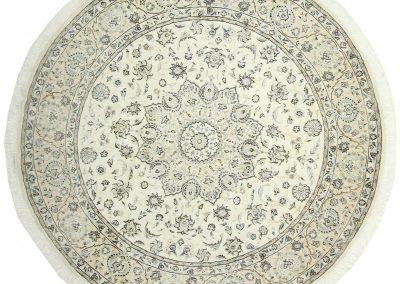 Наин — персидский ковер ручной работы из шерсти с шелком — 254 х 254 см