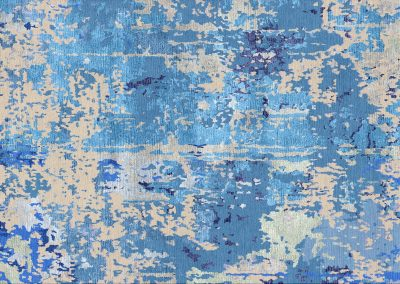 Abstract Blue — гималайская шерсть и бамбуковый шелк — любые размеры