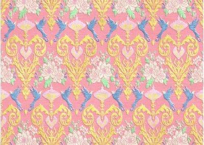 Floral & Birds – Bamboo Silk & Tibetan Wool – 365 x 245 cm
