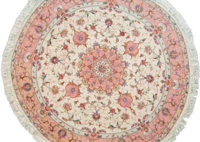 Табриз – персийски килим от финна вълна и коприна – 150 х 150 см