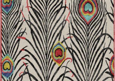 Peacock – луксозен килим от новозеландска вълна и естествена коприна – 80 х 160 см